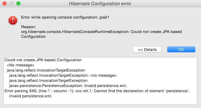 hibernate-configuration-error