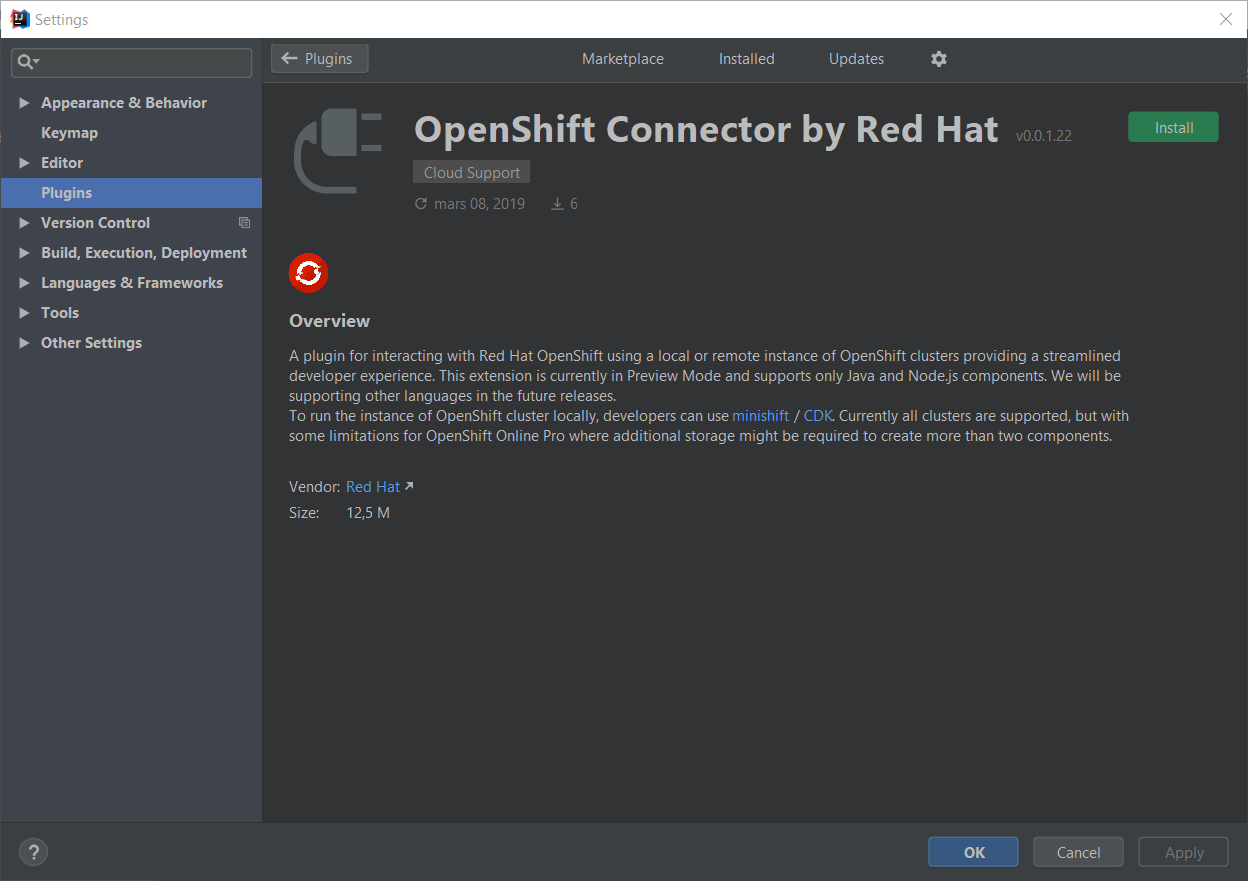 ij openshift connector1