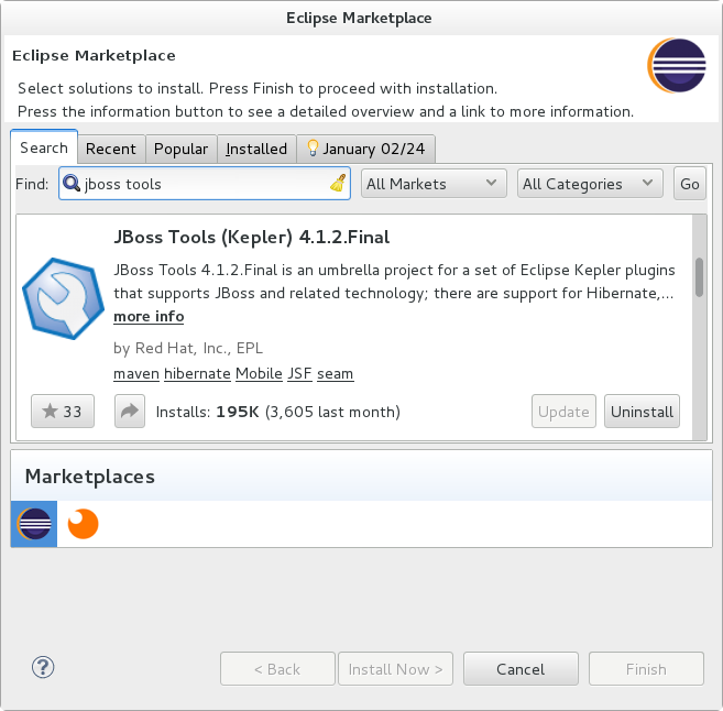 Eclipse Marketplace - JBoss Tools