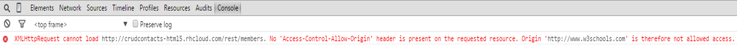 No 'Access-Control-Allow-Origin' header error