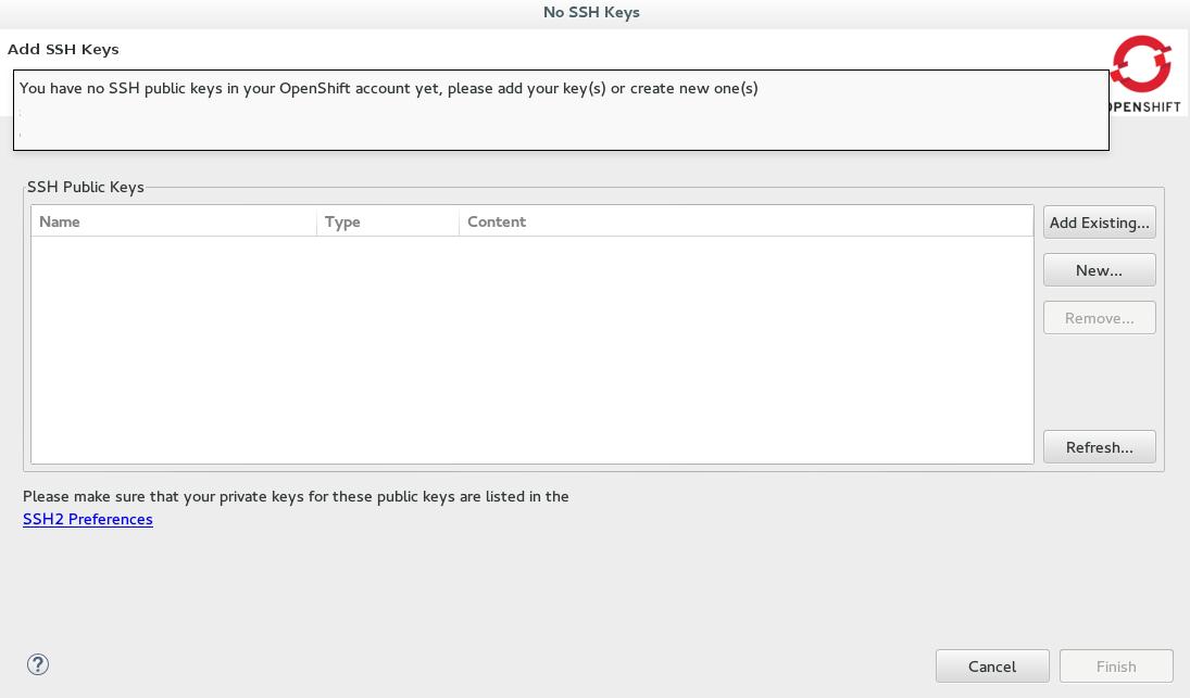 JBoss Tools - Configure SSH Keys for OpenShift Online