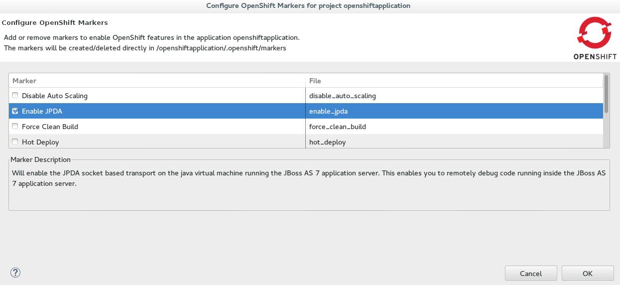 JBoss Tools - Debug an OpenShift Online Java App