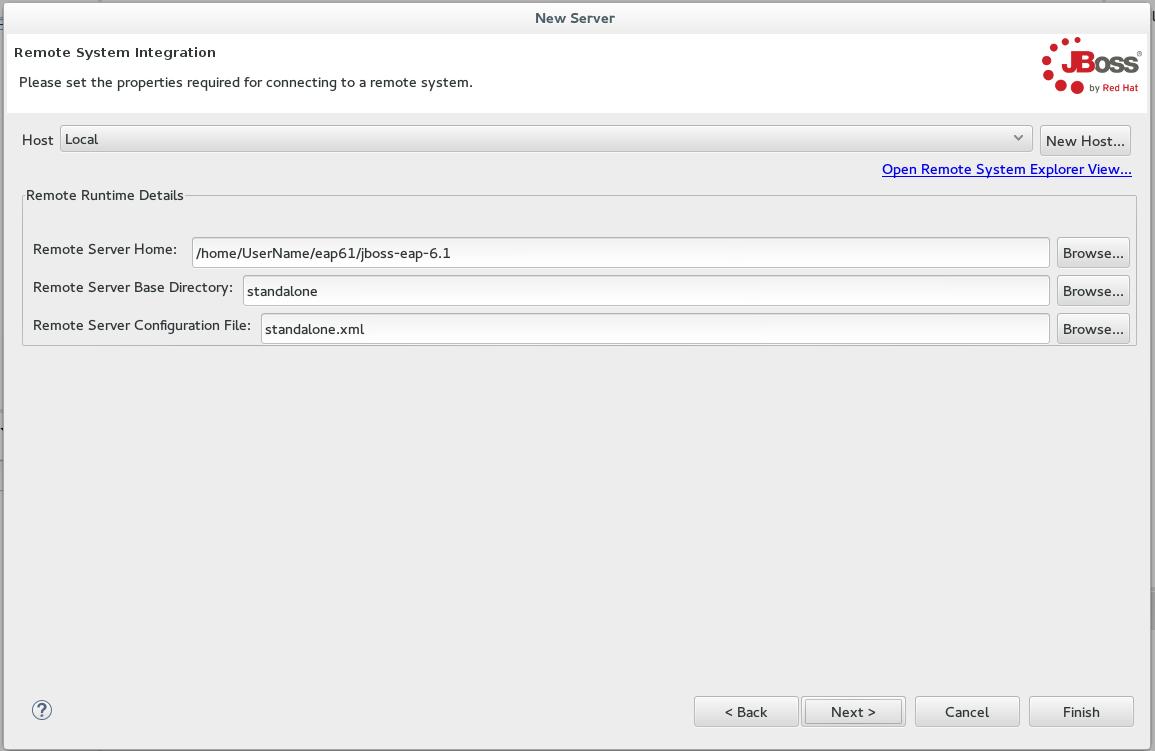 JBoss Tools - Configure a Remote Server