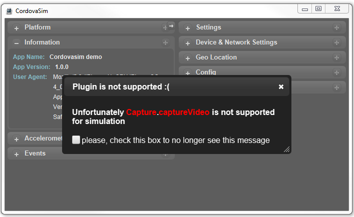 Plug-in not supported dialog