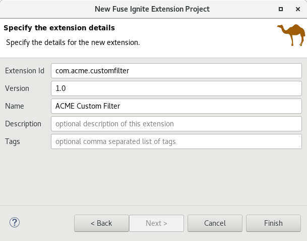 Fuse Ignite Technical Extension Wizard