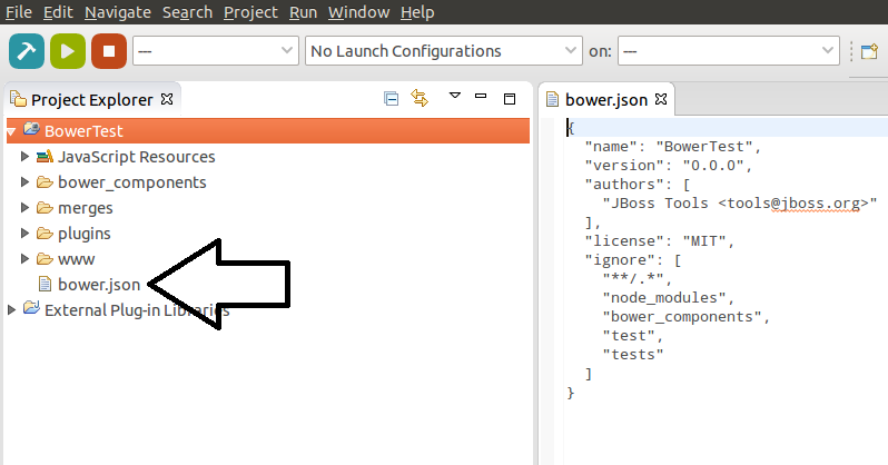 Default bower.json