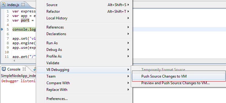 Push Source Changes to VM
