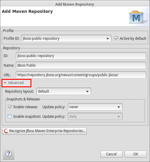 maven repository advanced