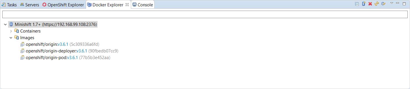 minishift server adapter4