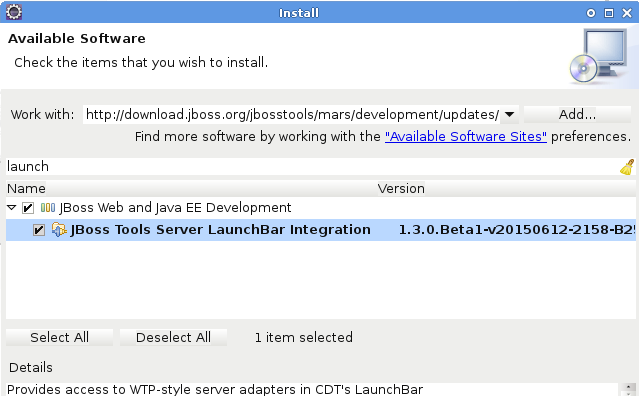 LaunchBar Installation