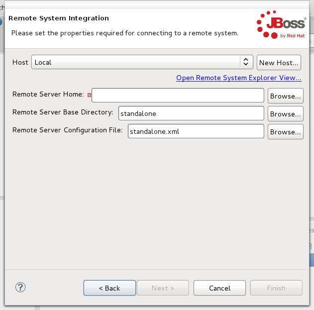 Configuring your remote server's details