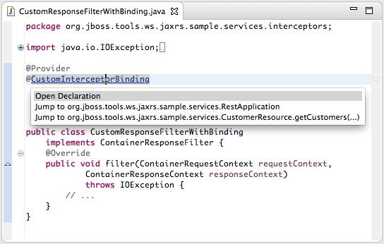 Jboss Tools Web Services